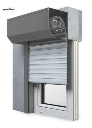 1 Silber Fenster Rollladen SK 45 Vorbaurollladen Aluprof