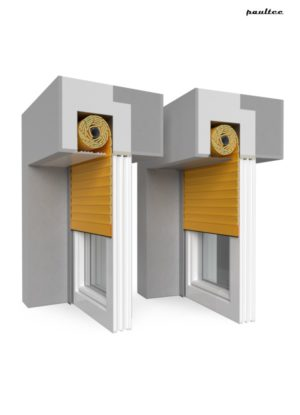 10 Gelb Fenster Rollladen QuadBox Unterputzrollladen BeClever
