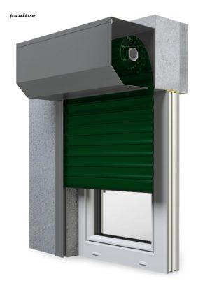 12 Grün Fenster Rollladen SK 45 Vorbaurollladen Aluprof
