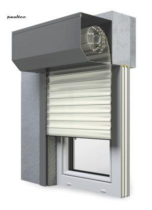 13 Cremeweiss Fenster Rollladen SK 45 Vorbaurollladen Aluprof