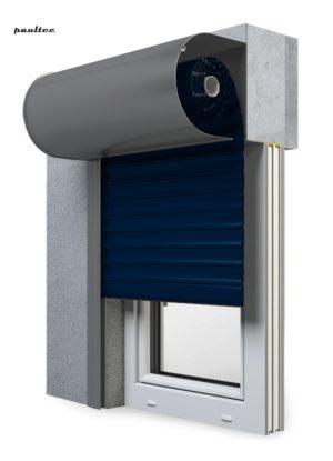 16 Stahlblau Fenster Rollladen SKO-P Vorbaurollladen Aluprof