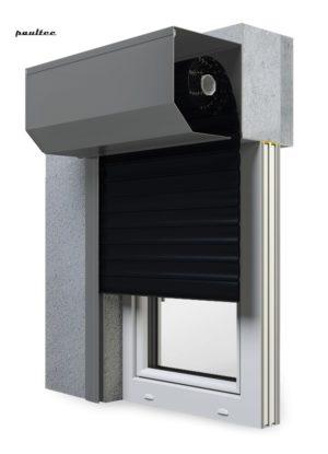 18 Schwarz Fenster Rollladen SK 45 Vorbaurollladen Aluprof