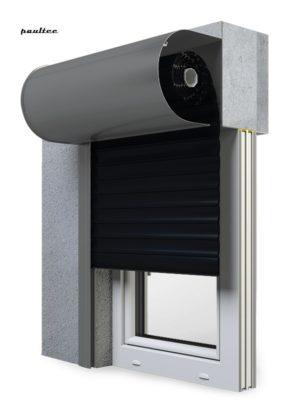 18 Schwarz Fenster Rollladen SKO-P Vorbaurollladen Aluprof