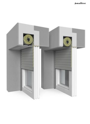 3 Grau Fenster Rollladen QuadBox Unterputzrollladen BeClever