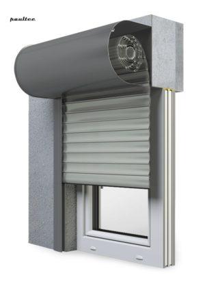 3 Grau Fenster Rollladen SKO-P Vorbaurollladen Aluprof