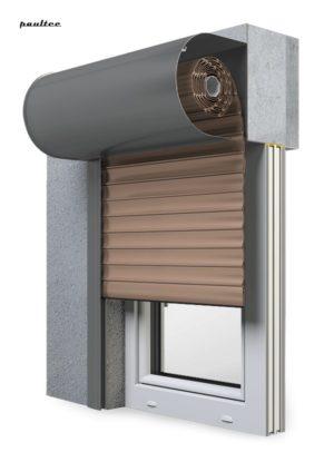 4 Dunkelbeige Fenster Rollladen SKO-P Vorbaurollladen Aluprof