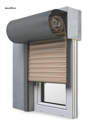 5 beige Fenster Rollladen SKO-P Vorbaurollladen Aluprof