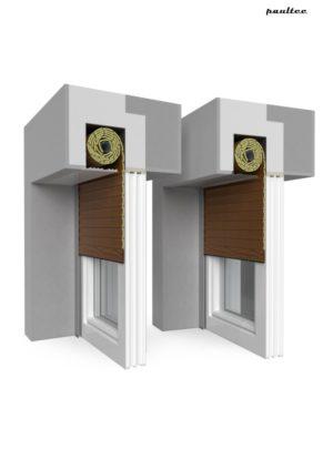 6 Holz dunkel Fenster Rollladen QuadBox Unterputzrollladen BeClever