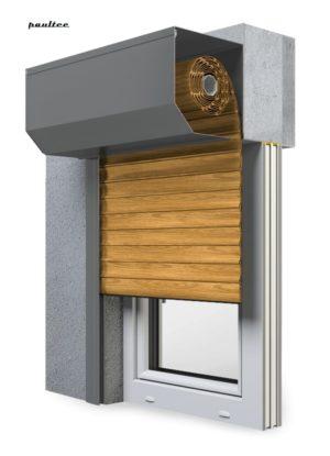 7 Holz hell Fenster Rollladen SK 45 Vorbaurollladen Aluprof