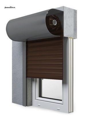 9 Braun Fenster Rollladen SKO-P Vorbaurollladen Aluprof
